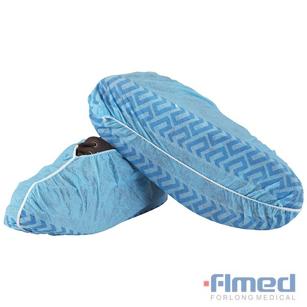 Medische textielproducten Disposable Non-Woven PP CPE Shoe Cover